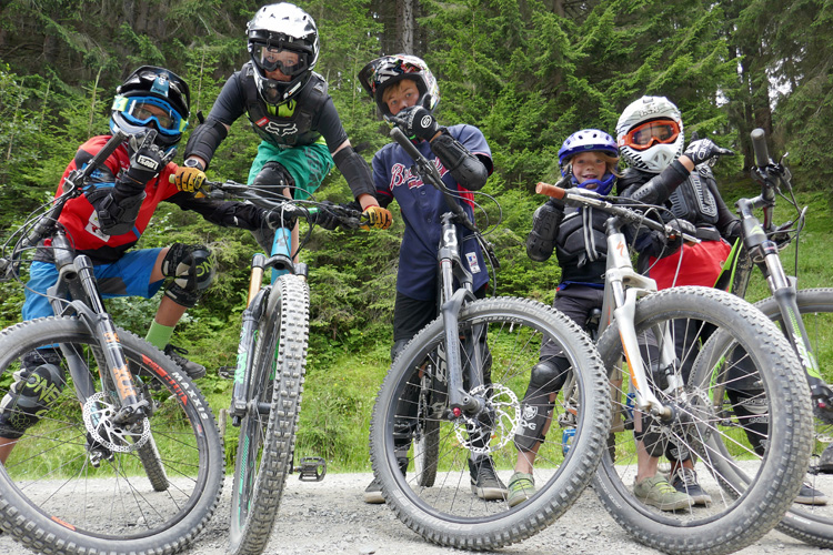 MTB Jugend Camp in Leogang. Downhill weekend for Kids.